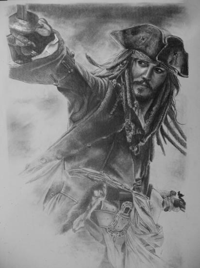 Johnny Depp por captaincaliena